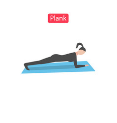 plank flat fit icons vector image