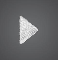 Play sketch logo doodle icon vector
