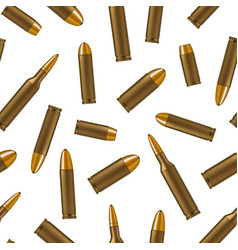 realistic detailed 3d bullets seamless pattern vector image