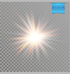 Realistic transparent starburst lighting effect vector