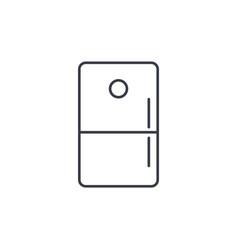 refrigerator thin line icon linear symbol vector image