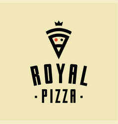 Royal pizza minimalism style logo icon vector