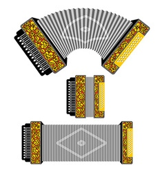 Russian accordion musical instrument harmonic vector image