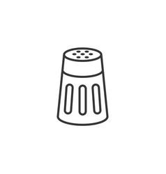 salt or pepper shaker in outline icon vector image