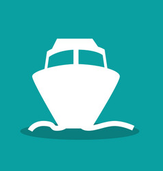ship boat transport icon vector image