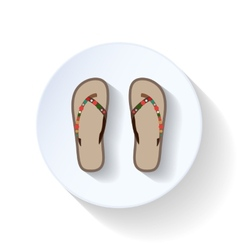 Slippers flat icon vector
