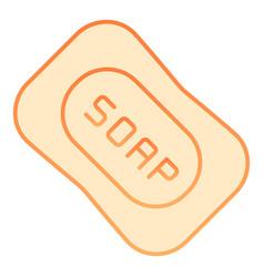 Soap flat icon hygiene orange icons in trendy vector