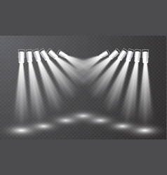 spotlight set collection on transparent bakground vector image