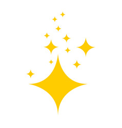 stars on blank background in flat design yellow vector image