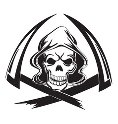 Tattoo design of a grim reaper with scythe vector