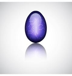 Technology easter egg vector