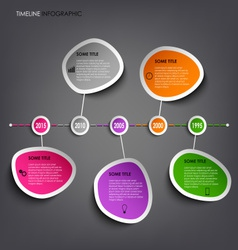 Time line info graphic with colored abstract vector