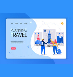 tourism travel booking concept banner vector image