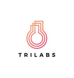 trilabs three lab logo icon vector image