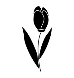Tulip leaf natural floral pictogram vector