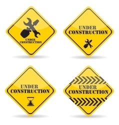 Under Construction Sign Set vector