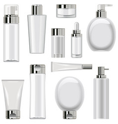 Unlabeled cosmetic packaging set 2 vector