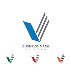 v letter logo template icon vector image