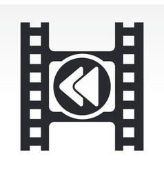 video rewind icon vector image vector image