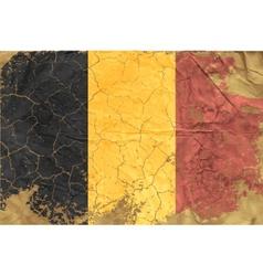 vintage belgian flag vector image