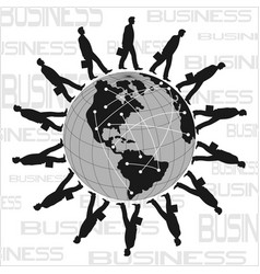 world business poster vector image