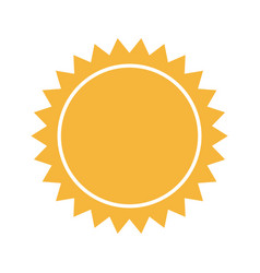 Yellow sun sunlight summer climate symbol vector