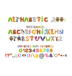 Zoo alphabet animal alphabet letters from a to z vector
