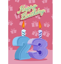 23 years celebration 23nd happy birthday vector image vector image