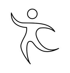 Athlete figure human icon vector