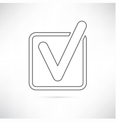 checkbox icon outline vector image