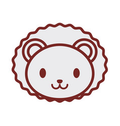 cute lion face image vector image vector image