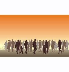 people in the horizon vector image