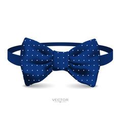 realistic bow tie vector image vector image