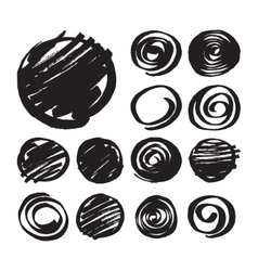 Shaded Circles and Spiral Design Elements vector image vector image