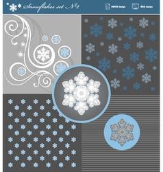 Snowflakes set 2 vector image vector image