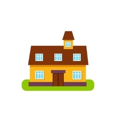 Suburban House Exterior Design With Attic Storey vector image vector image