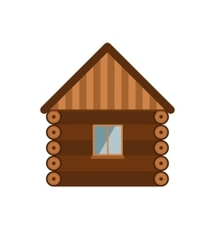Wooden house vector