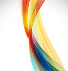 Abstract colorful background with smooth wave vector image vector image