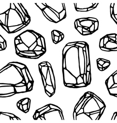 black line stone seamless pattern white background vector image