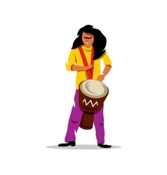 Man playing the Drum Brazilian music vector image