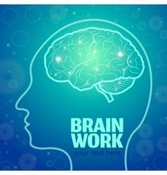 Brain work 1 vector image