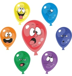 Emoticonballoon set vector image
