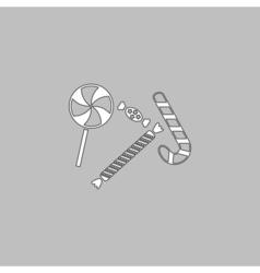 Sweets computer symbol vector image