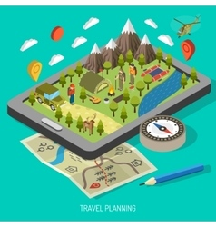 Hiking And Camping Design Concept vector image