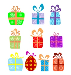Holiday gifts vector image