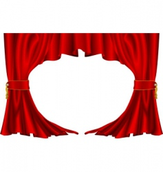 ter style curtains vector image vector image