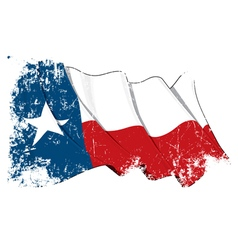 Texas Waving Flag Grunge vector image