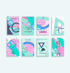 universal abstract posters set vector image vector image