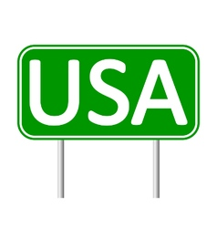 USA road sign vector image vector image