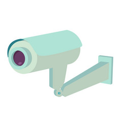 video surveillance security camera flat icon vector image